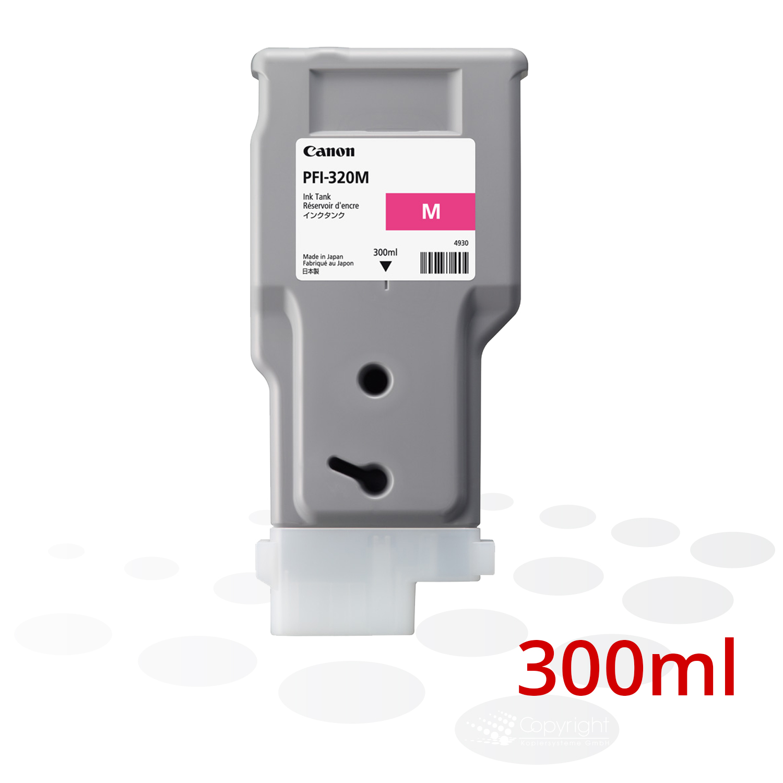 Canon Tinte PFI-320 M, Magenta, 300 ml