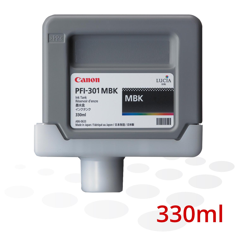 Canon Tinte PFI-301 MBK, Schwarz, 330 ml