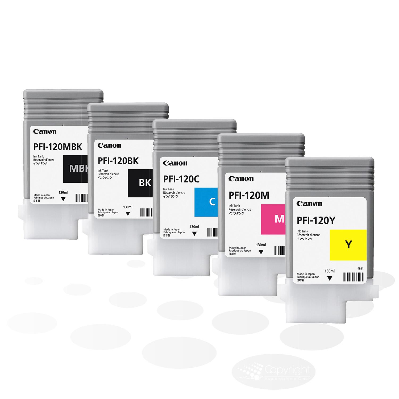 Canon PFI-120-Set (5 Tinten), je 130 ml