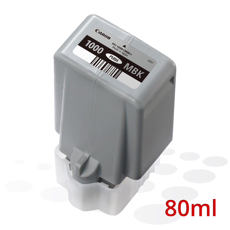 Canon PFI-1000 MBK, Matt Schwarz, 80 ml