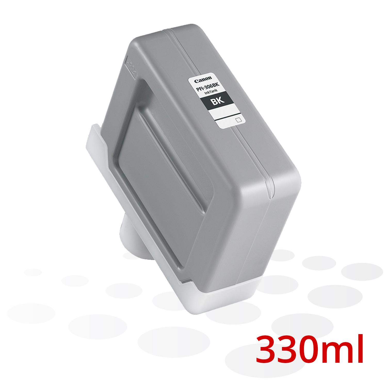 Canon Tinte PFI-306 BK, Schwarz, 330 ml
