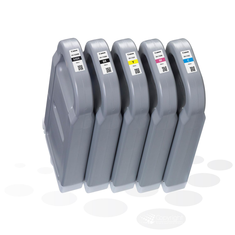 Canon Tinten PFI-710-SET (5 Tinten), je 700 ml