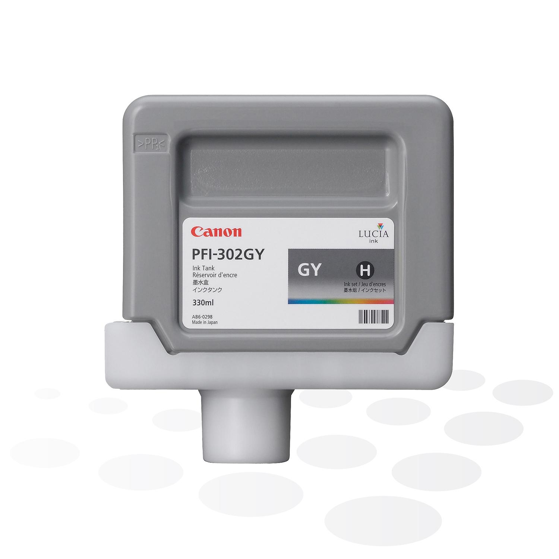 Canon Tinte PFI-302 GY, Grau, 330 ml