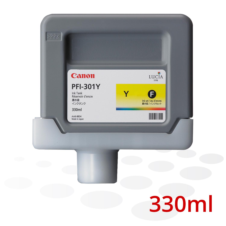 Canon Tinte PFI-301 Y, Yellow, 330 ml