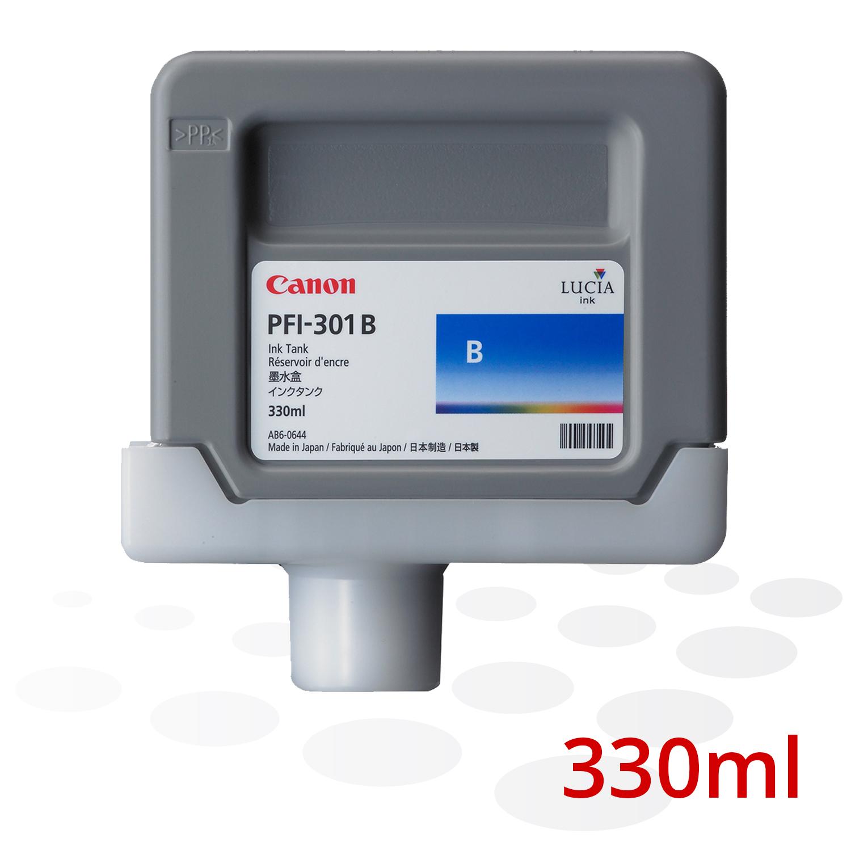 Canon Tinte PFI-301 B, Blau, 330 ml