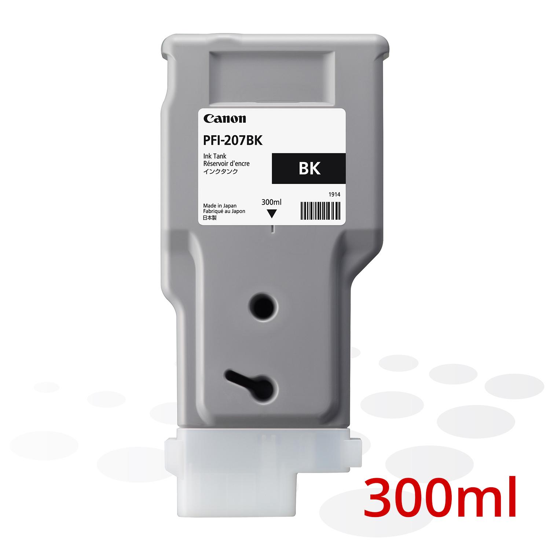 Canon PFI-207 BK, Schwarz, 300 ml
