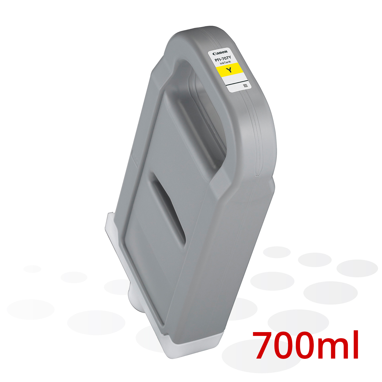 Canon PFI-707 Y, Yellow, 700 ml