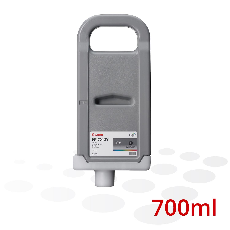 Canon Tinte PFI-701 GY, Grau, 700 ml