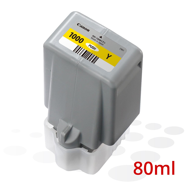 Canon PFI-1000 Y, Yellow, 80 ml