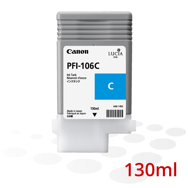 Canon PFI-106 C, Cyan, 130 ml