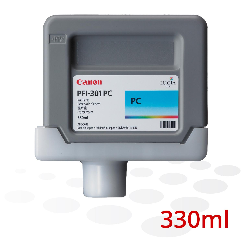 Canon Tinte PFI-301 PC, Photo Cyan, 330 ml