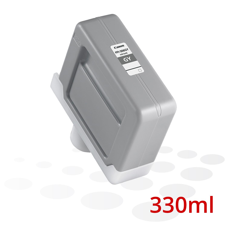 Canon Tinte PFI-306 GY, Grau, 330 ml