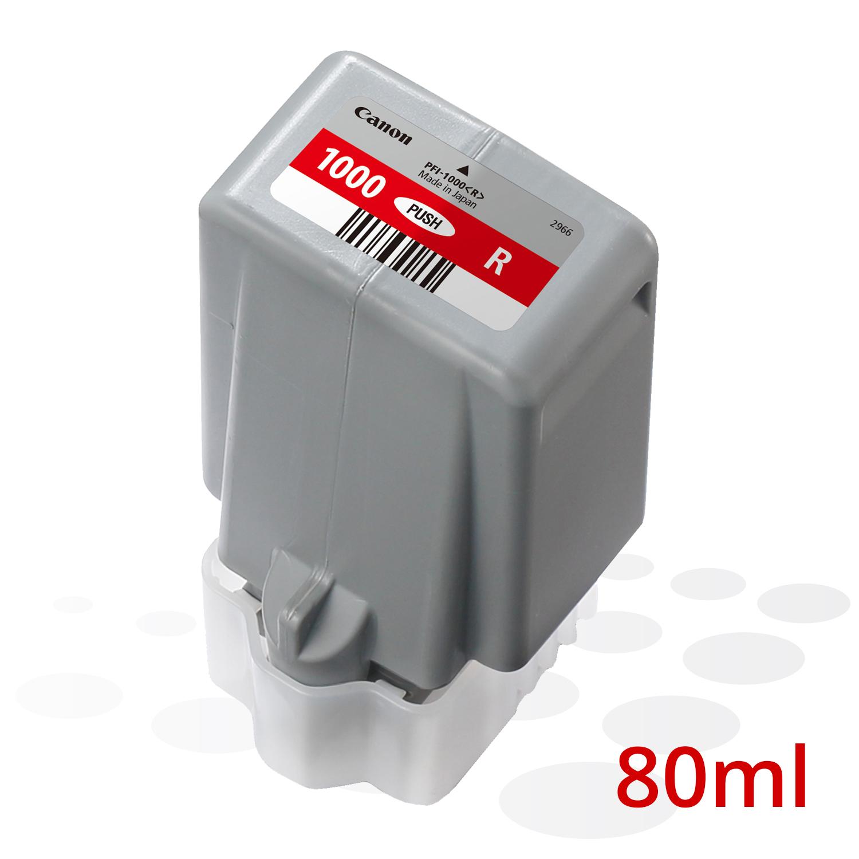 Canon PFI-1000 R, Rot, 80 ml