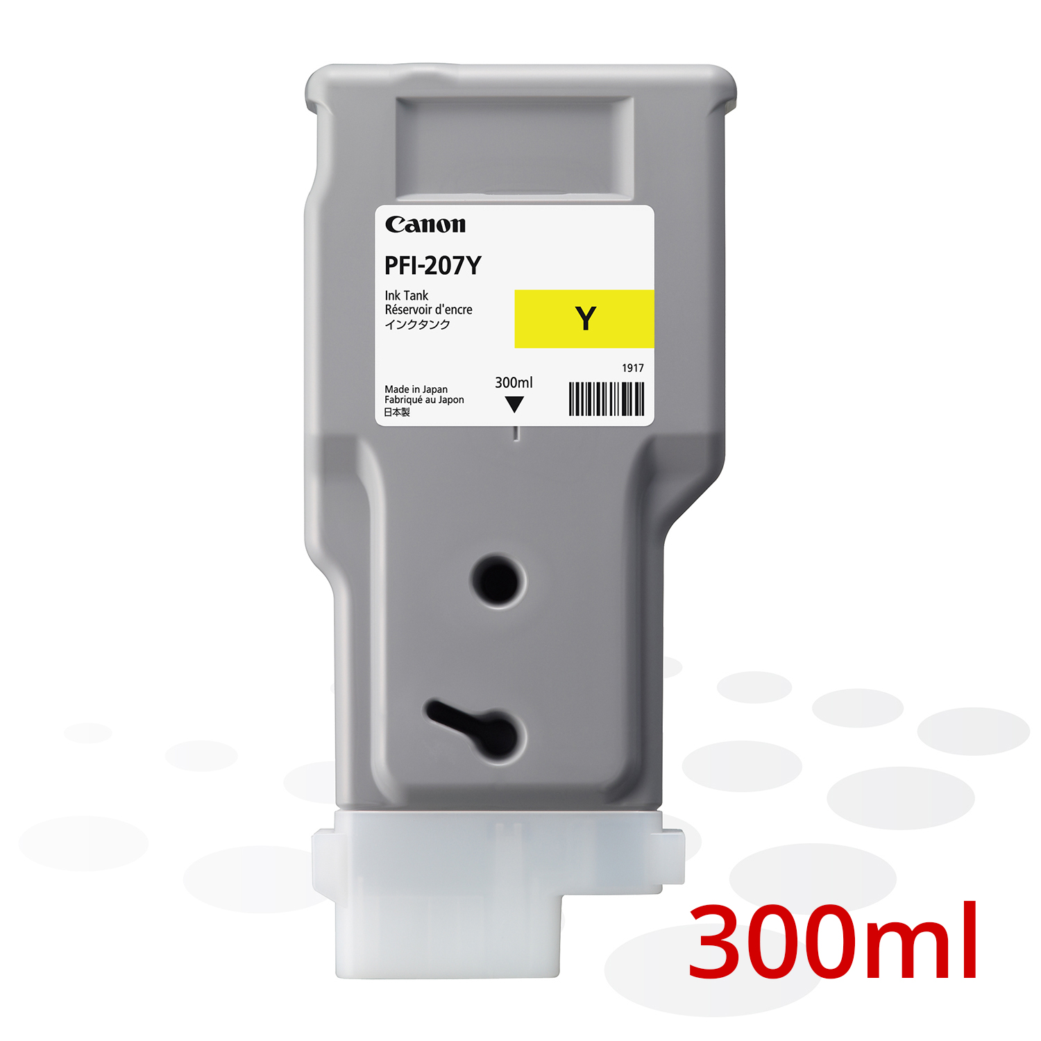 Canon PFI-207 Y, Yellow, 300 ml